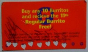 Burrito Loyalty Card